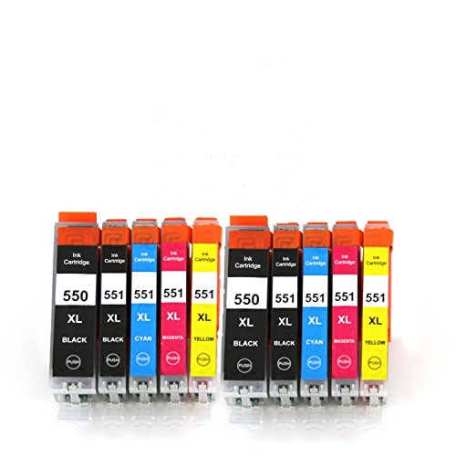10-xl-cli-551xl-pgi-550xl-ink-cartridges-for-use-with-canon-pixma-mg5450-mg5550-mg5650-mg6350-mg6450
