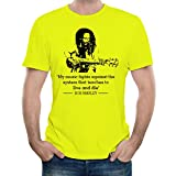 My Print Story | Bob Marley Guitar and Quote T-SHIRT | Musical | Premium Cotton Fabric | 46