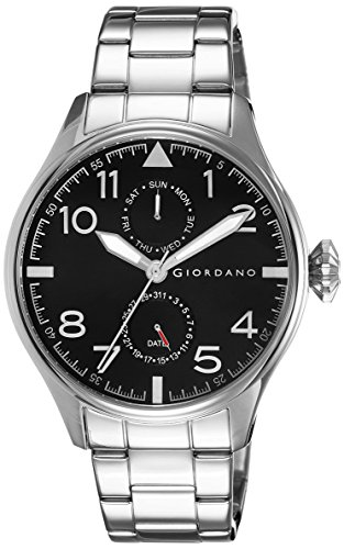 Giordano Analog Black Dial Men's Watch - 1719-11 image