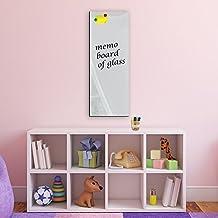 "DEKOGLAS Magnettafel /""Grau/"" 100x50 Glas Magnet Wand Tafel Whiteboard Memoboard"