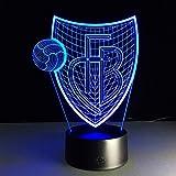 3D Optisch LED-Nachtlicht, 7 Farbe USB Konsole Dimmbar Berühren Schalter Mit Remote Steuerung Zum Innere Dekorationen (Farbe : C)