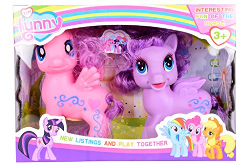 Planet-of-Toys-Little-Pony-With-Music-And-Lights-Set-Of-2-For-Kids-Children