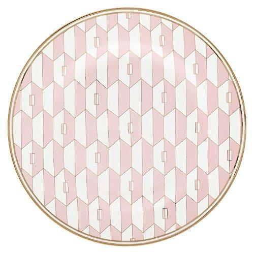 GreenGate Gate Noir - Kuchenteller Teller Frühstücksteller - 20 cm - Aurelie Pink - Porzellan - Wild Roses Bone China