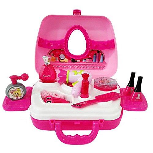 Preisvergleich Produktbild SFL 12 Stück Prinzessin Make-up-Zubehör Schönheit Kosmetik-Set In Einem Koffer Mädchen Kinder Rollenspiel Spielzeug (29*21,5*10,5)