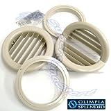Coppia di griglie Ø 160 mm pieghevoli con flange per Unico Olimpia Splendid