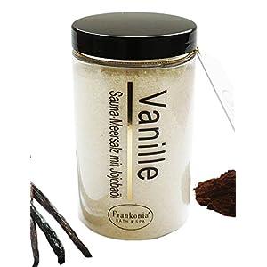Sauna Salz Vanille Meersalz mit Jojobaöl, Körperpeeling 400 g