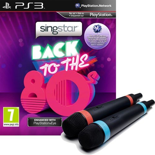 Singstar PS-3 Back to the 80's AT Bdl. inkl. wireless Singstar Mics