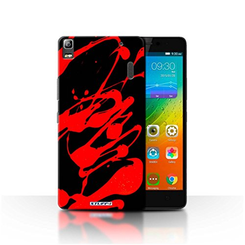Carcasa/Funda STUFF4 dura para el Lenovo K3 Note/K50-T5 / serie: Salpicaduras de Pintura - Rojo