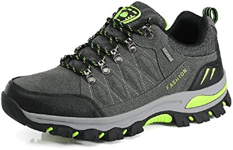 Hombre Mujre Zapatillas Montaña con Cordones Senderismo Basse Deportivas Walking Zapatos 35-45