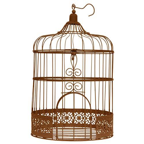 """Vogelkäfig Groß rost \""""Antik\"""" ø 20 x 31 cm Gastgeschenk Hochzeit Tischschmuck"""