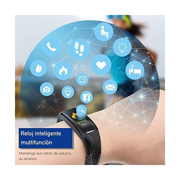 Sonkir Fitness Tracker HR, Reloj de Seguimiento de Actividad con Monitor de frecuencia cardíaca, podómetro, Contador de calorías, Monitor para Dormir, Pulsera Inteligente Resistente al Agua IP68 2