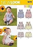 New Look Sewing Pattern 6970 - Babies' Romper, Dress & Panties Sizes: A (NB-S-M-L)
