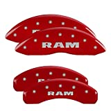 MGP Caliper Covers 55001SRAMRD 'RAM' Engraved Caliper Cover with Red Powder Coat Finish and Silver Characters, (Set of 4) by MGP Caliper Covers