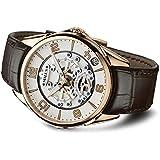 Milus Mens Tirion TriRetrograde 45mm Rose Gold Case Automatic Watch TIRI403