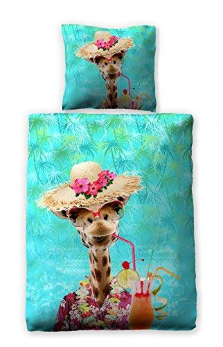 Bettwäsche Digitaldruck 135x200 cm 100% Baumwolle Design