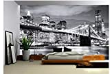 JHFVB 3D fototapete Moderne Stadt Europa und usa nachtansicht Manhattan Bridge...