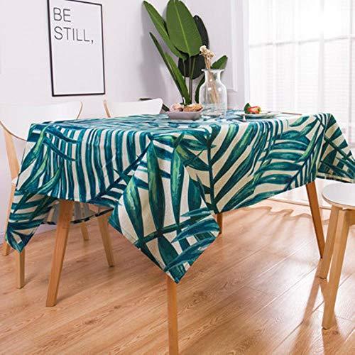 Geometrie Tropische Pflanzen Muster Baumwolle Leinen wasserdichte Tischdecken Dekorative Home Decor Tischdecke Tischdecke U 60 x 60 cm