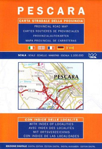 Pescara. Carta stradale della provincia 1:100.000 (Carte stradali d'Italia) por Litografia Artistica Cartografica (LAC)