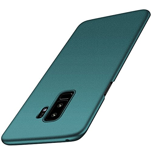 Samsung Galaxy S9 Plus Hülle, Anccer [Serie Matte] Elastische Schockabsorption und Ultra Thin Design für Galaxy S9 Plus 2018 (Kies Grün)