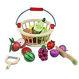 Fruits et Légumes Jouets Bois Magnetique Fruits Legumes a Decouper Cuisine Jouet Cadeau pour Enfant 3 4 5 6 7 Ans