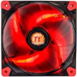 Thermaltake CL-F017-PL12RE-A Luna 12/120 mm 7 Blade Design Case Fan - Transparent Red