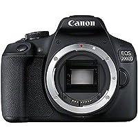 Canon EOS 2000D BK BODY EU26 SLR Camera Body 24.1MP CMOS 6000 x 4000pixels Black - Digital Cameras (24.1 MP, 6000 x 4000 pixels, CMOS, Full HD, Black)
