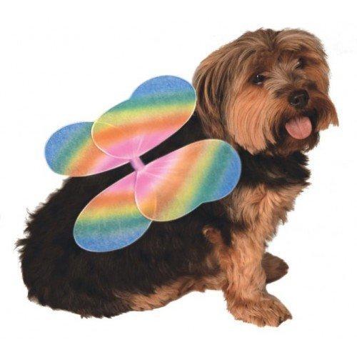 Haustier Kostüm Hund Katze Tiere Regenbogen Fee Pixie Schmetterling Engel Flügel Moderne (Schmetterling Engelsflügel)