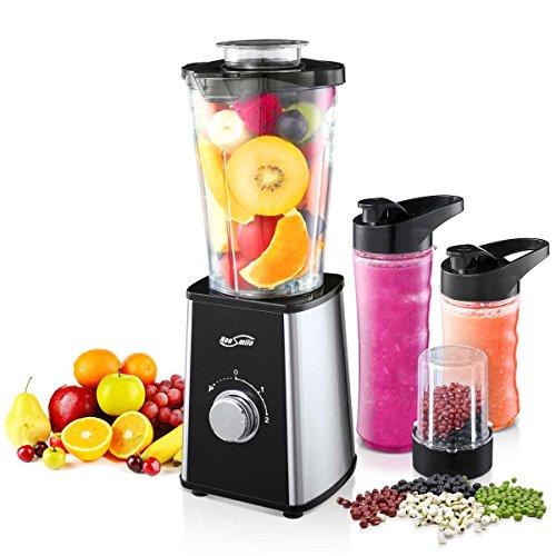 Housmile Mini Frullatore Portatile Perfetto per Insalata Frutta e Verdura, Potenza 300W Capacità 0.6L, 2 Lame e Diverse Misure di...