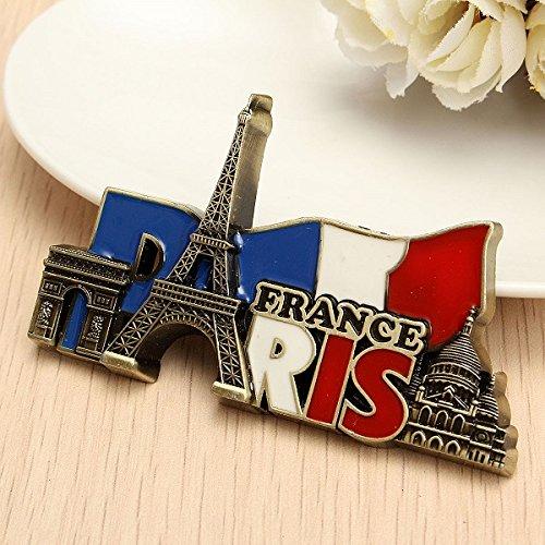 PANGUN Paris Frankreich Reisen Sammler Metall Stereoscopic Kühlschrank Magnet Aufkleber Tourist Souvenir