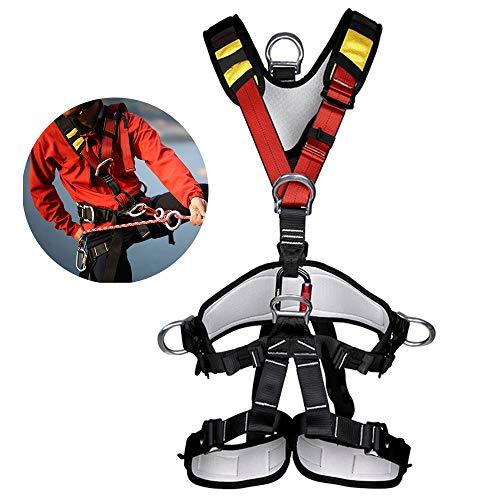 OTENGD Klettergurt, Abnehmbarer Ganzkörpersicherheitsgurt Sicherer Sicherheitsgurt, für Baumklettergurt im Freien, Klettergurt zum Bergsteigen, Band nach außen erweitern