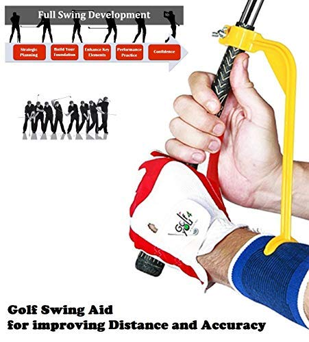 Golf Swing Trainer and Warm Up Tool Accessory - Swing Correcting Tool to Improve All Positions of The Swing Steps and Adjust Wrists in Simple and Effective Way