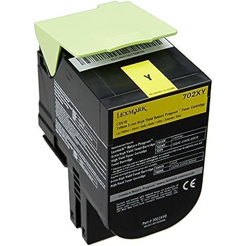 Lexmark 70C2XY0 - Tóner, capacidad 4000 páginas, color amarillo