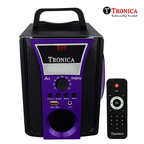 Tronica ENJOY VIOLET Speaker with Emergency Light (Black and Purple)