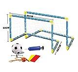 Dominiti 2x porta calcio con rete e palla / incl. POMPA, pepe e gancio/CALCIO/CALCIO