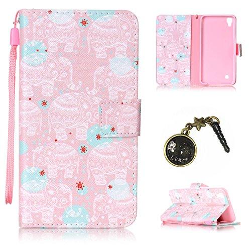 Preisvergleich Produktbild PU Silikon Schutzhülle Handyhülle Painted pc case cover hülle Handy-Fall-Haut Shell Abdeckungen für LG X Power (13,5 cm (5,3 Zoll) hülle +Staubstecker (2OO)
