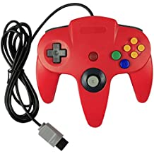 KEESIN Cableado Joystick controlador de consola de juegos para Nintendo 64 N64 rojo