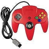 KEESIN Verdrahtet Video Gamepad Spielkonsolen Controller Joystick für Nintendo 64 N64 (Rot) -