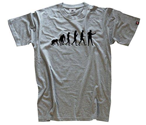 'Shirtzshop–Maglietta da uomo, grigio, XXXL, SS Flash Shop–Evo _ fionda per T grigio