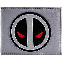 Cartera de X-Force Deadpool Logo amenazante cara Gris