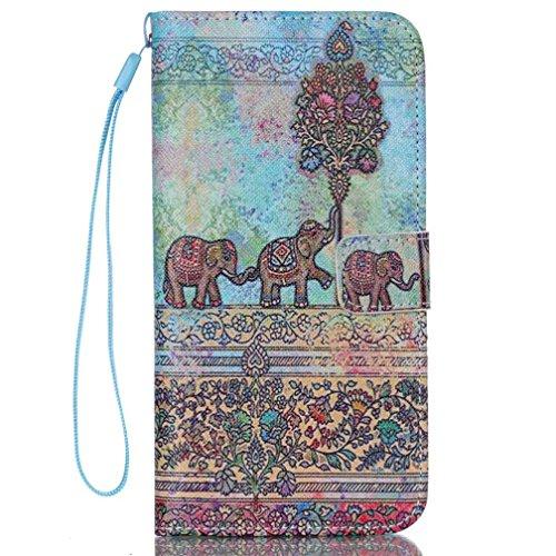 KATUMO® Taschen & Schalen Apple iPhone 6/6S, Etui Kastenmappen und Standfunktion Wallet Case für iPhone 6 Handytasche Flip Flio Cover Hülle (Grauer Elefant) Grauer Elefant