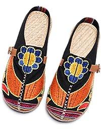 Gracosy Walking Slip-On, Sandalias Mules Para Mujeres Zapatos de Playa Coloridos Bordados Ocio Al Aire Libre Zuecos de Jardín Home slipers Zapatillas Planas Mujeres Zapatillas