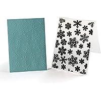 everpert Weihnachten Schneeflocke Kunststoff Prägeschablone für Scrapbook DIY Album Karte