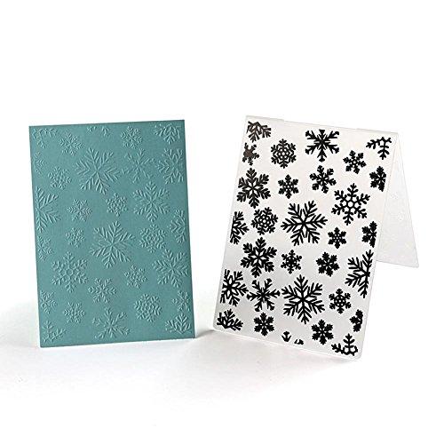 Everpert Weihnachts-Schneeflocken-Prägeschablone aus Kunststoff für Sammelalbum, DIY Album Karte