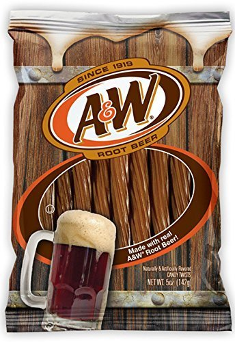 A&W Root Beer Licorice Twists - 5oz Root Beer Candy - Made With Real A&W Root Beer Cola by KLN