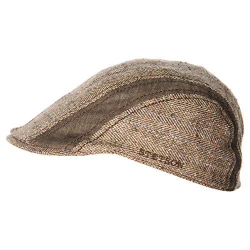 manatee-coppola-gatsby-in-seta-stetson-cappello-piatto-berretti-in-lino-xl-60-61-marrone