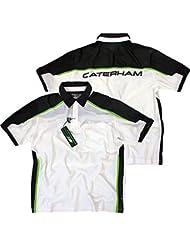 Caterham Formula 1 HPE Performance Polo Shirt para hombre - blanco/ verde, XXXXL