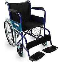 Rollstuhl faltbar | Sanitätshaus | Stahl | Blau | Breite: 50 cm | Alcazar | Mobiclinic