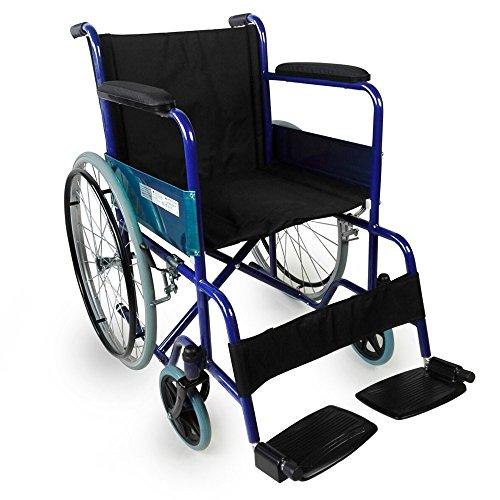 Rollstuhl faltbar | Sanitätshaus | Stahl | Blau | Breite: 50 cm | Alcazar | Mobiclinic -