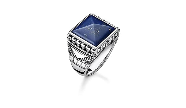 225e133e1b6f Thomas Sabo Men Ring Ethnic Skulls Blue 925 Sterling Silver ...