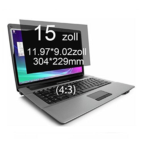 Xianan 15 Zoll Standardbildschirm 4:3 Displayfilter 11.97 * 9.02zoll/304 * 229mm Blickschutzfilter Blickschutzfolie Blickschutz Sichtschutz